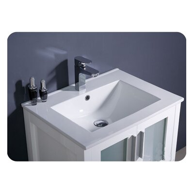 "Fresca Torino 24"" Modern Bathroom Vanity Set with Undermount Sink"