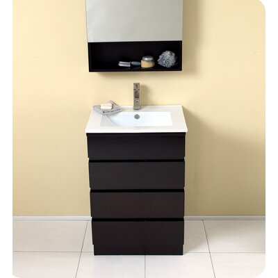 "Fresca Stella 23.75"" Amato Modern Bathroom Vanity Set with Medicine Cabinet"