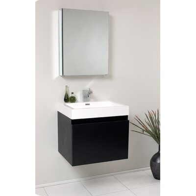 "Fresca Senza 23.5"" Nano Modern Bathroom Vanity Set with Medicine Cabinet"