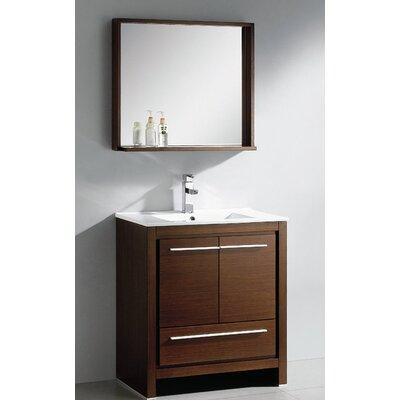"Fresca Allier 29.5"" Modern Bathroom Vanity Set with Mirror"