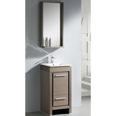 "Fresca Allier 18"" Small Modern Bathroom Vanity Set with Mirror"