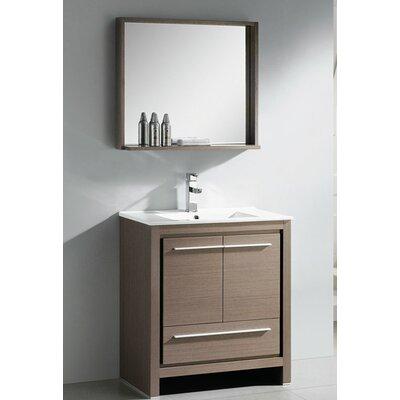 Fresca Allier 30 Single Modern Bathroom Vanity Set With Mirror Reviews Wayfair