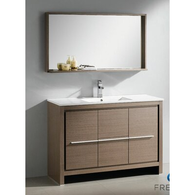 "Fresca Allier 47.5"" Modern Bathroom Vanity Set with Mirror"