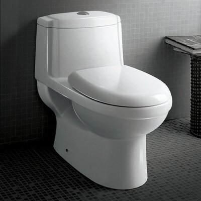 Fresca Dorado Dual Flush 0.8 GPF / 1.6 GPF Elongated 1 Piece Toilet with Soft Close Seat