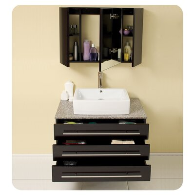 "Fresca Stella 31.75"" Modello Modern Bathroom Vanity Set with Medicine Cabinet"