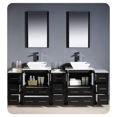 Fresca Torino 84 Quot Double Modern Bathroom Vanity Set With