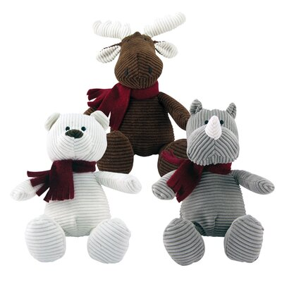 Fou Fou Dog Holiday Corduroy Toy (Set of 3)