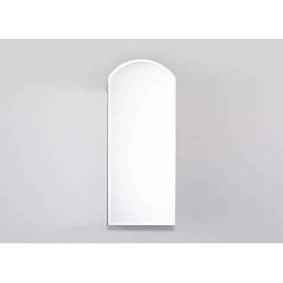 "Robern PL Series 30"" High Arch Beveled Mirrored Door Cabinet with Outlet"