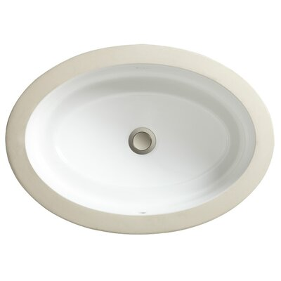 Marquee Oval Medium Undermount Bathroom Sink with Overflow - 12050-00