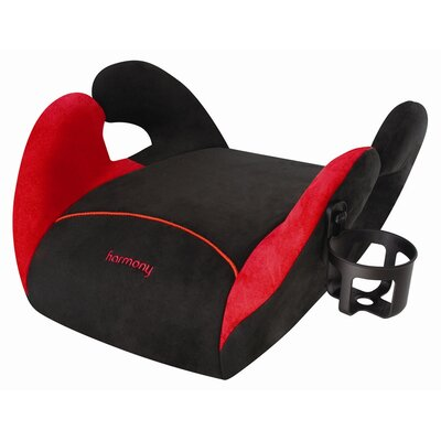 Harmony Juvenile Products Carpoooler Youth Backless Booster Carseat in Black / Red