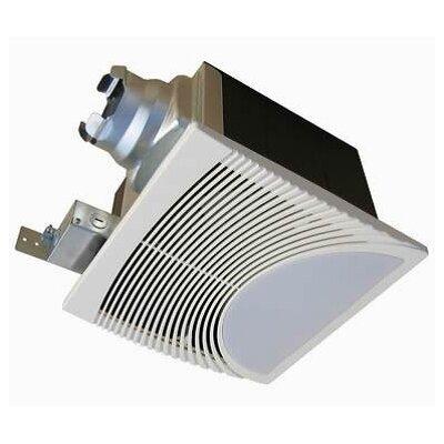 Very quiet 80 cfm bathroom ventilation fan with light nightlight wayfair for Quiet bathroom exhaust fan light