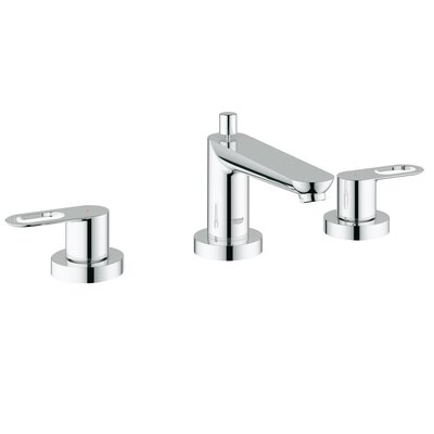 Grohe BauLoop Double Handle Deck Mount Roman Tub Faucet and Lever Handle
