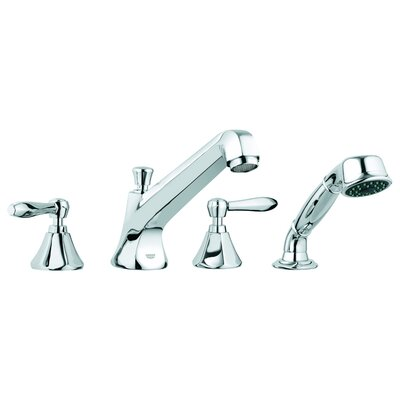 Grohe Somerset Deck Mount Roman Tub Filler with Handshower