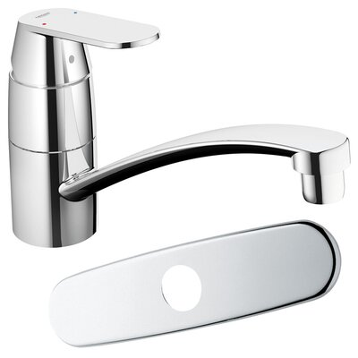 Grohe Eurosmart Cosmopolitan Single Handle Single Hole Swivel Kitchen Faucet with Spout with ...