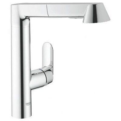 Grohe K7 Main Single Handle Single Hole Kitchen Faucet with Watercare and Pull Out Spray