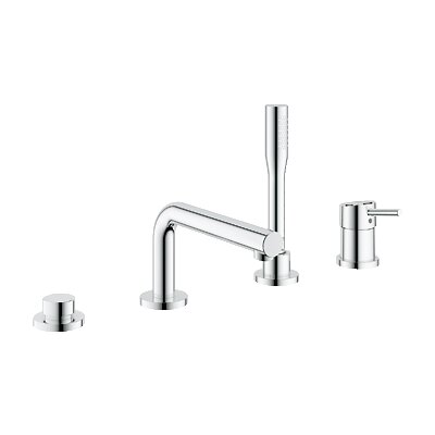 Grohe Concetto Single Handle Deck Mount Tub Faucet with Handshower