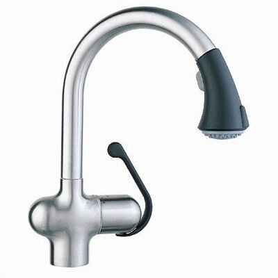 Grohe Ladylux Cafe Single Handle Single Hole Kitchen Faucet with Pull Out Spray