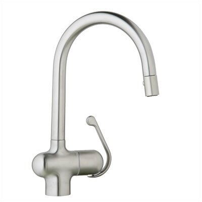 Grohe Ladylux Pro Single Handle Single Hole Kitchen Faucet with Dual Spray Pull Out