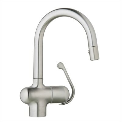 Grohe Ladylux Single Handle Single Hole Bar Faucet with Pull Out Spray