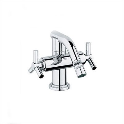 Grohe Atrio Double Cross Handle Horizontal Spray Centerset Faucet