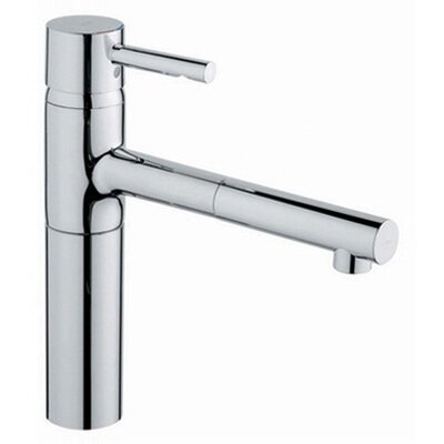 Grohe Essence Low Profile Single Handle Single Hole Kitchen Faucet with Pull Out Spray