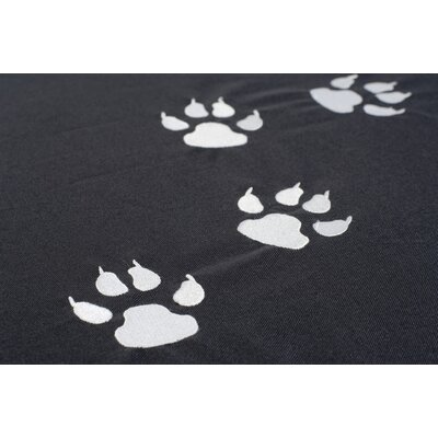 Sit On It Doggie Style Beanbag in Paw Prints Fashionable Grey