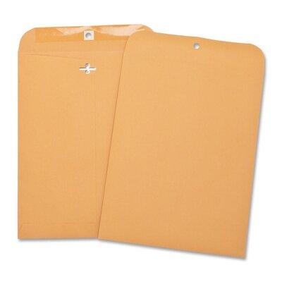 "Business Source Heavy-duty Clasp Envelopes,3-3/8""x6"",100 per Box,Brown Kraft"