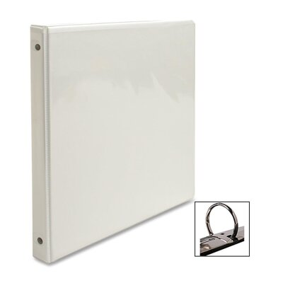 "Business Source View Binder, w/ 2 Inside Pockets, 1/2"" Capacity, White"