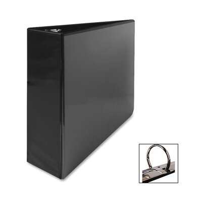 "Business Source Standard View Binders, 3""Capacity, 8-1/2""x11"", Black"