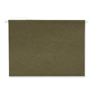 Business Source Hanging Folder, 1/5 Tab Cut, Letter, 25 per Box, Standard Green