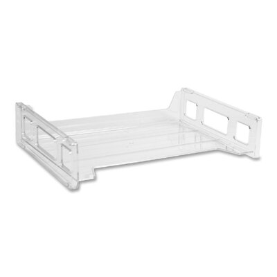 Business Source Stacking Tray, Side Load, Letter, Clear