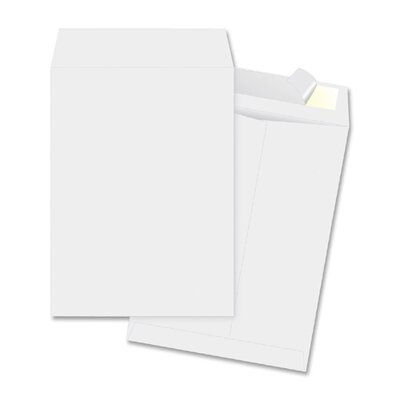 "Business Source Open-End Envelopes, Plain, 10""x13"", 100 per Box, White"