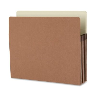 "Business Source File Pocket, 3-1/2"" Exp., Letter, 25 per Box, Redrope"
