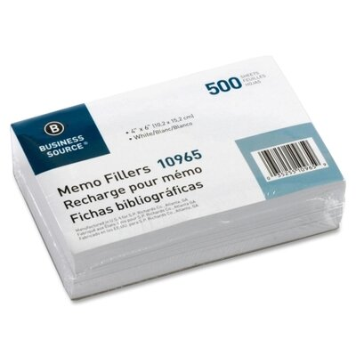 Business Source Memo Filler Sheet (Pack of 500)