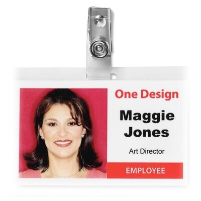 Business Source ID Card Clip (100 Per Box)