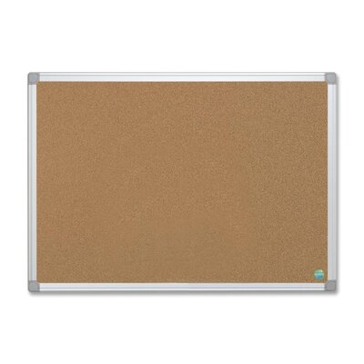 "Bi-silque Visual Communication Product, Inc. Mastervision 36"" Earth Cork Board with Aluminum Frame"