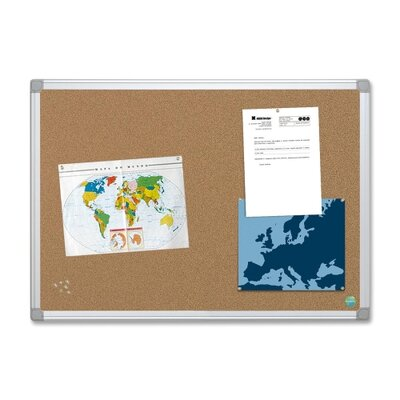 "Bi-silque Visual Communication Product, Inc. Mastervision 72""  Earth Cork Board with Aluminum Frame"