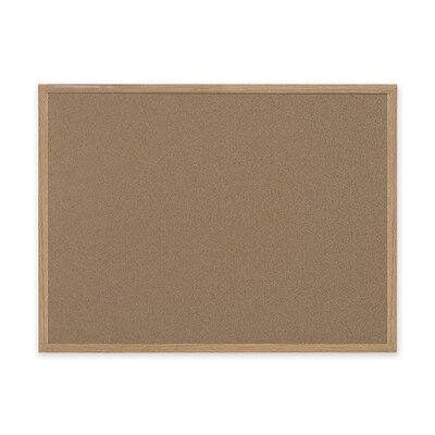 "Bi-silque Visual Communication Product, Inc. Mastervision 48"" Wide Wood Frame Earth Cork Board"