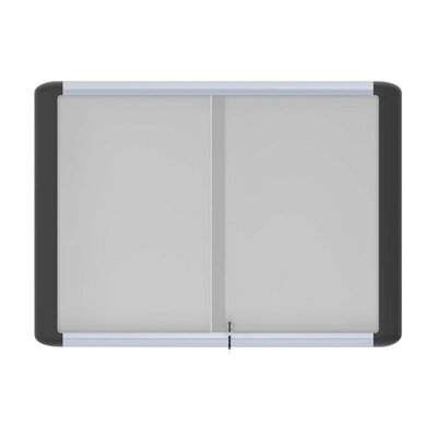 Bi-silque Visual Communication Product, Inc. Enclosed 3' x 4' Whiteboard