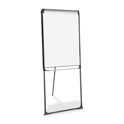 "Bi-silque Visual Communication Product, Inc. Porcelain Presentation Easel, Platinum, Footbar, 29""x41"", Black"