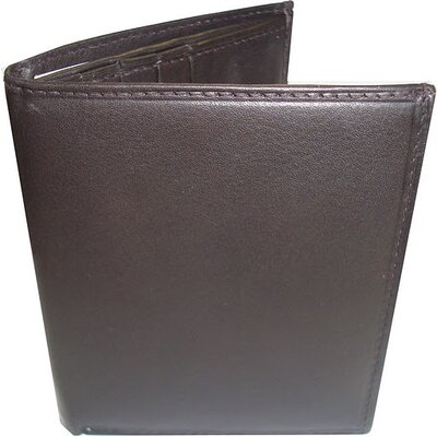 Leather Quadra Wallet in Brown
