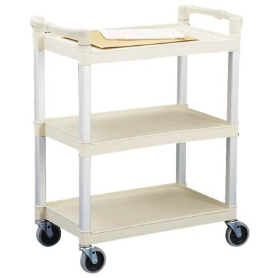 "Continental Mfg. Co. 3-Shelf Utility Cart, 36""x16""x31"", Beige"