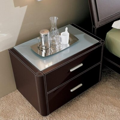 YumanMod Crono 2 Drawer Nightstand