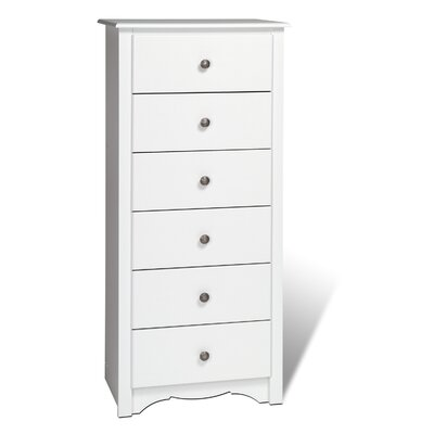 Prepac Monterey 6 Drawer Lingerie Chest