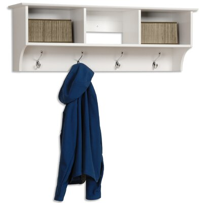 Prepac White Monterey Entryway Shelf