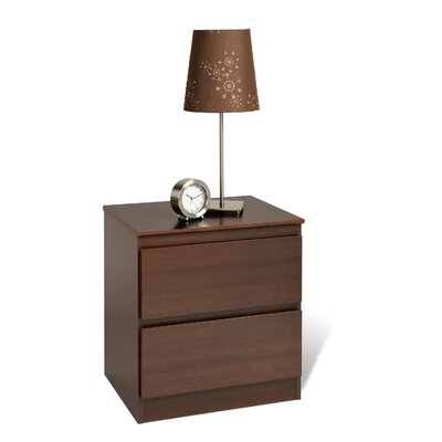 Prepac Avanti 2 Drawer Nightstand