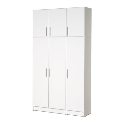Prepac Elite Garage/Laundry Room Wardrobe Cabinet with Top Shelf and Crossbar