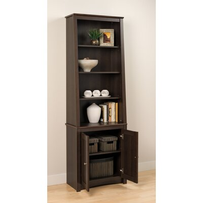 Slant-Back Bookcase with Shaker Doors