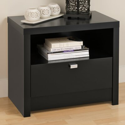 Prepac Designer Series 9 1 Drawer Nightstand