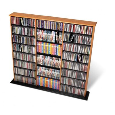 Triple Width Wall Mouted Multimedia Storage Rack